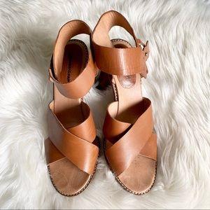 Madewell•Chunky Crisscross Heel